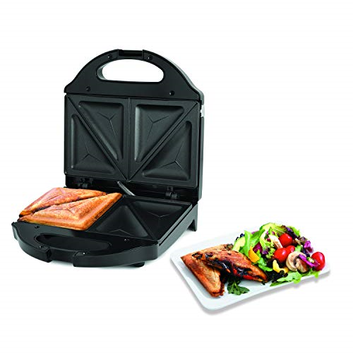 Salton Pocket Sandwich Maker, Electric Panini Grill with Non-Stick Cooking Makes