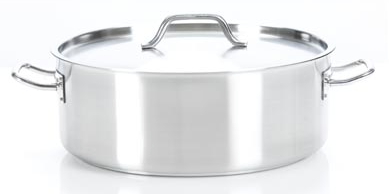 Josef Strauss Pro Low Casserole with Cover 15L