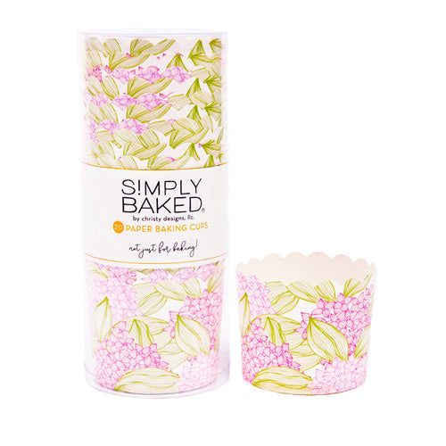 Simply Baked Large Pink Spring Floral Cup, Pack of 20