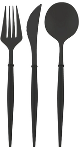 Bella Black Flatware 24pc