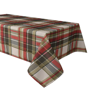 Carro Plaid Creme Tablecloth 58X78
