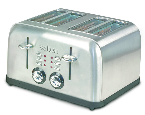 Salton  4-Slice Electronic Toaster, Brushed Metal