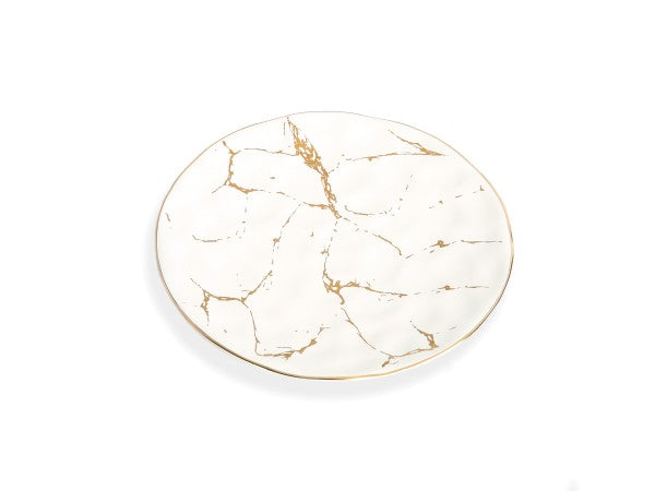 White and Gold Marble Plate, 8
