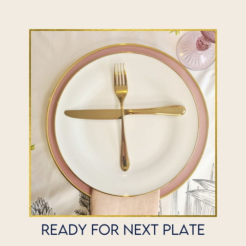 Hostaro Tableware Table setting ready for next course