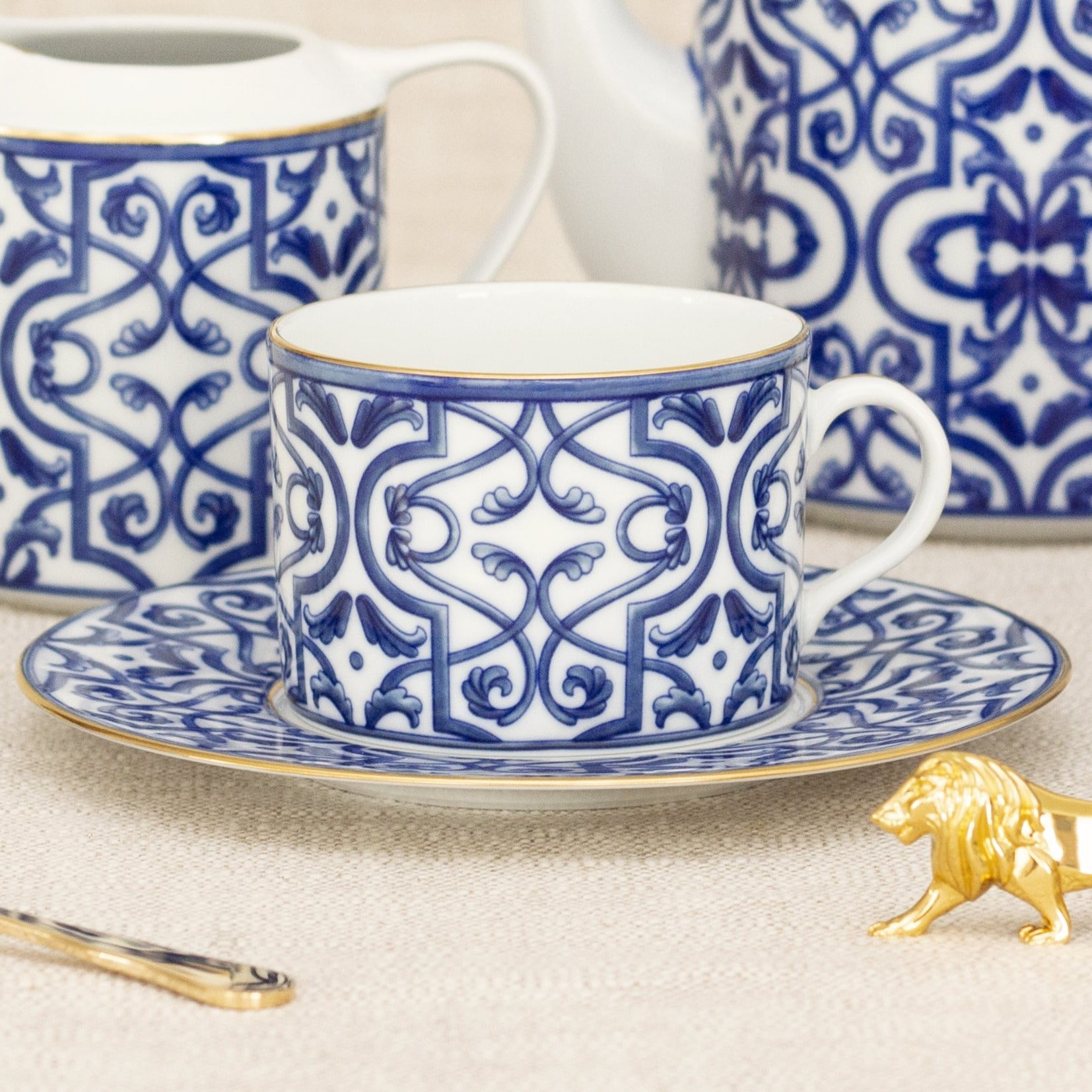 Blue Legacy Teacup and saucer Hostaro Tableware