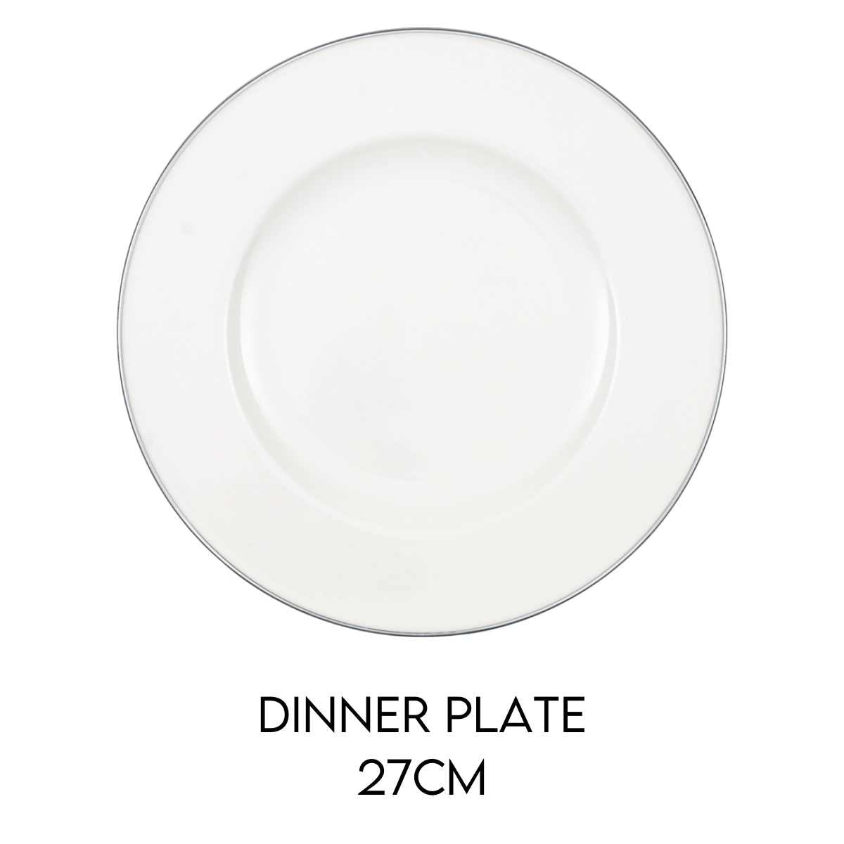 Hostaro Tableware Anmut Platinum dinner plate