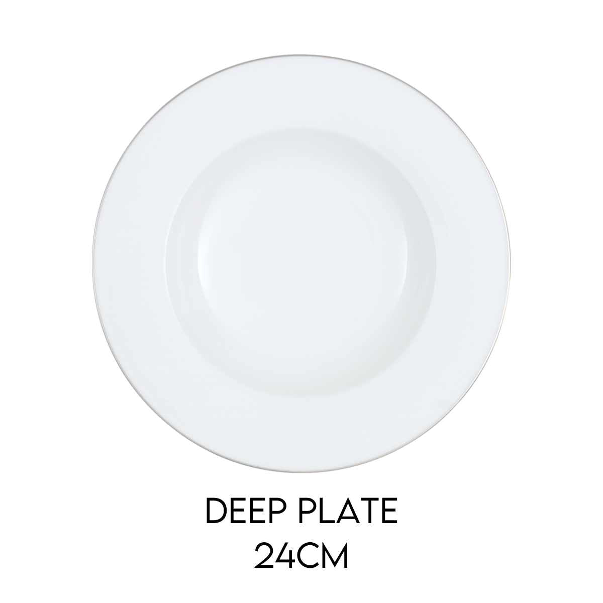Hostaro Tableware Anmut Platinum Deep Plate