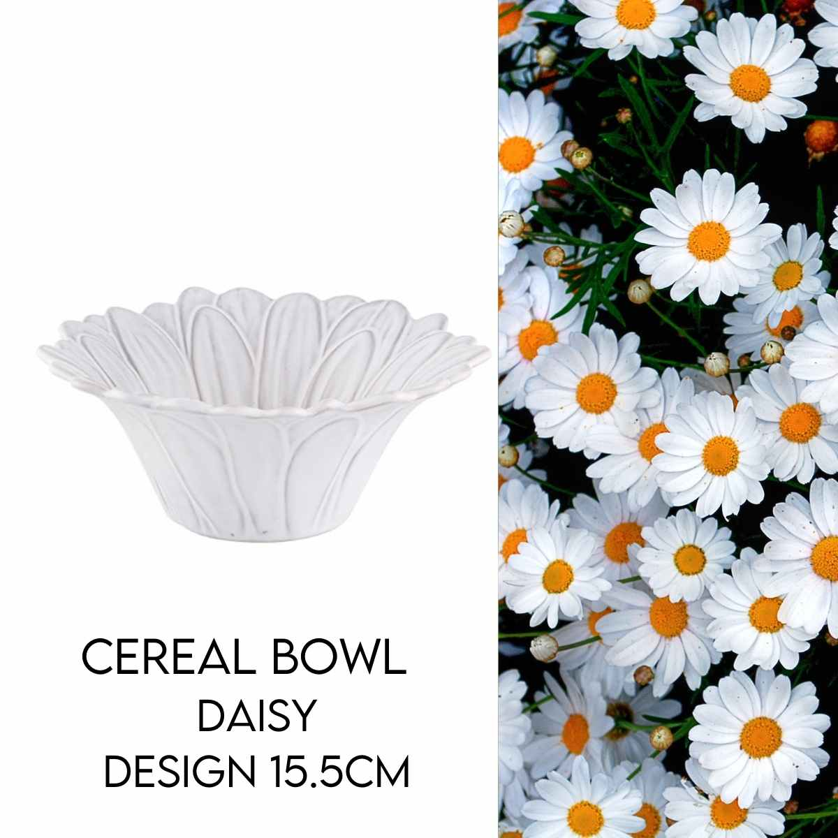 Hostaro Tableware Maria Flor daisy cereal bowl