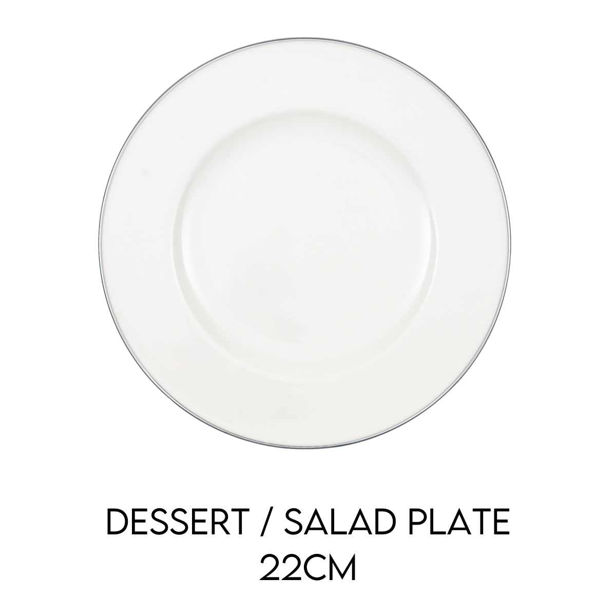 Hostaro Tableware Anmut Platinum Salad Plate