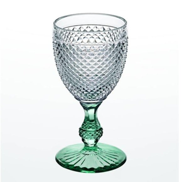 Mint  green stem water goblet Hostaro Tableware