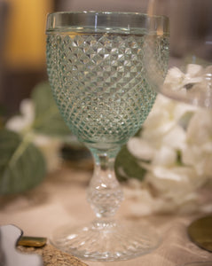 Green water glass Hostaro Tableware