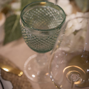 Green mint glass with green top. Hostaro Tableware