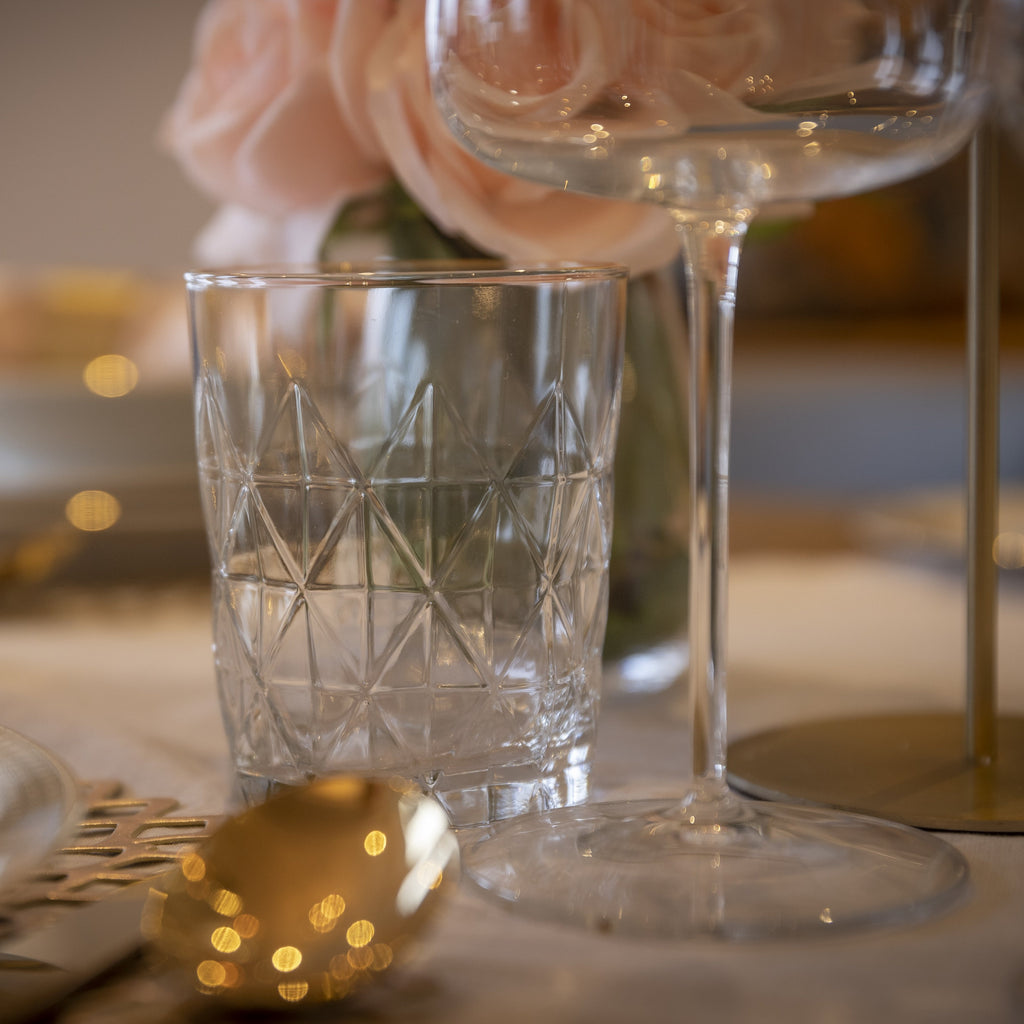 Beverage glass with gold rim Hostaro Tableware