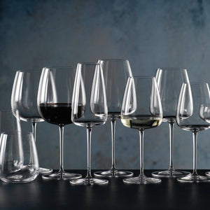 Red & white wine crystal glass set of 6 - Hostaro Tableware