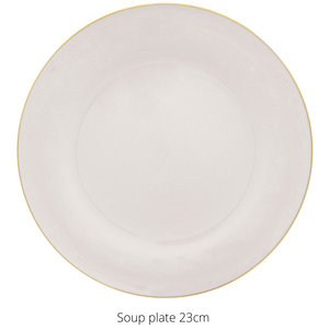 16 piece dinner set white with gold rim - Hostaro Tableware