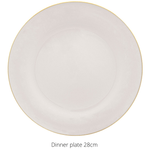 Load image into Gallery viewer, 16 piece dinner set white with gold rim - Hostaro Tableware