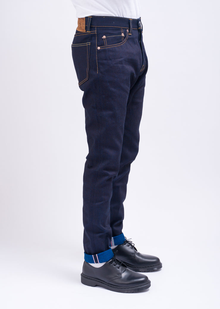 "MOMOTARO ""0405-14"" 13OZ DOUBLE FACE INDIGO DENIM HIGH TAPERED JEANS"