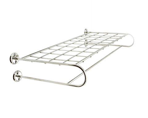 Versatile wall rack for storage of towels, clothing, pots, etc.