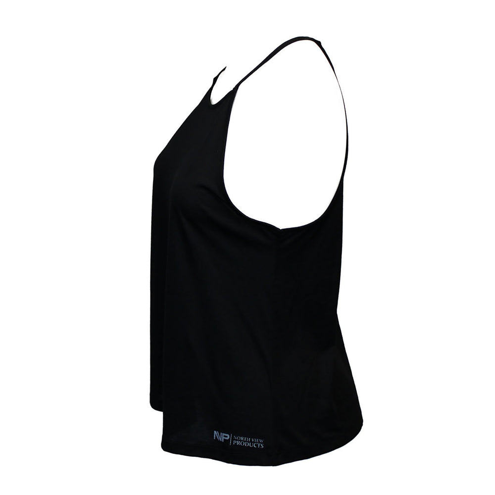 Silver Tag Racer Back (Black)