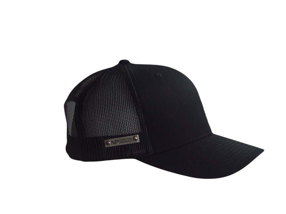 Load image into Gallery viewer, Silver Tag Blackout Hat