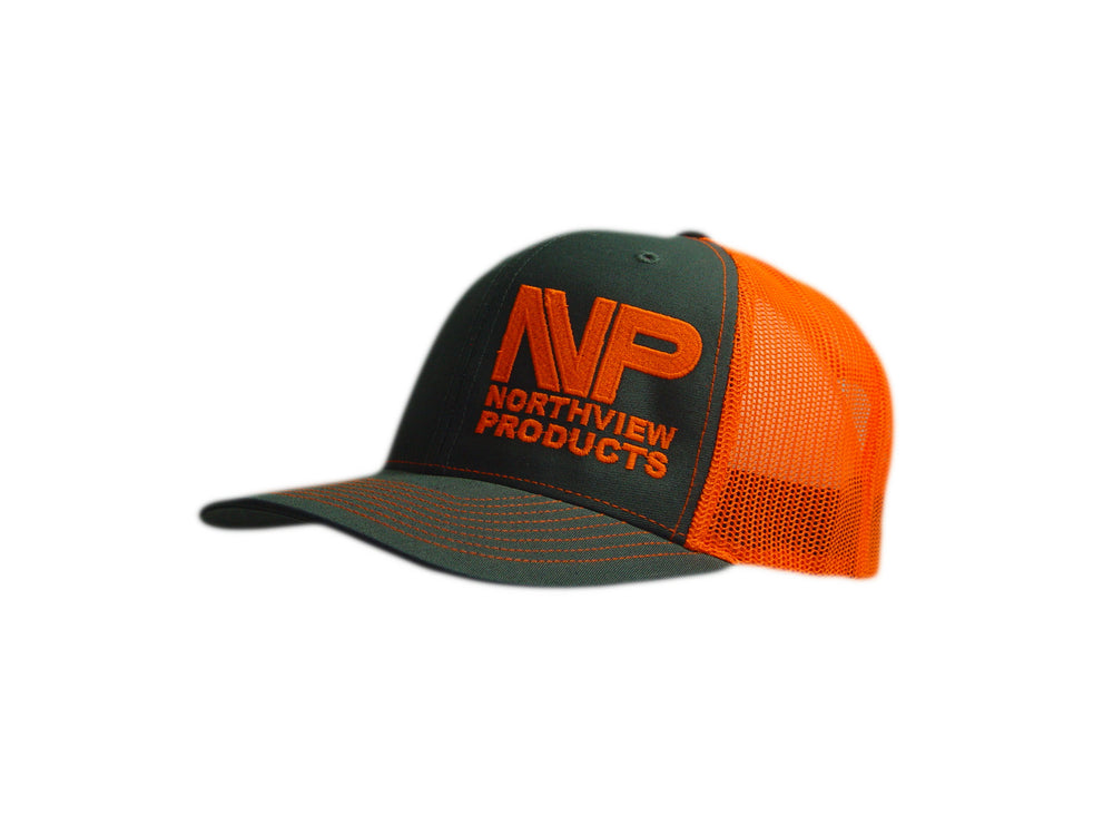 Load image into Gallery viewer, SILVER TAG CHR & NEON ORG HAT