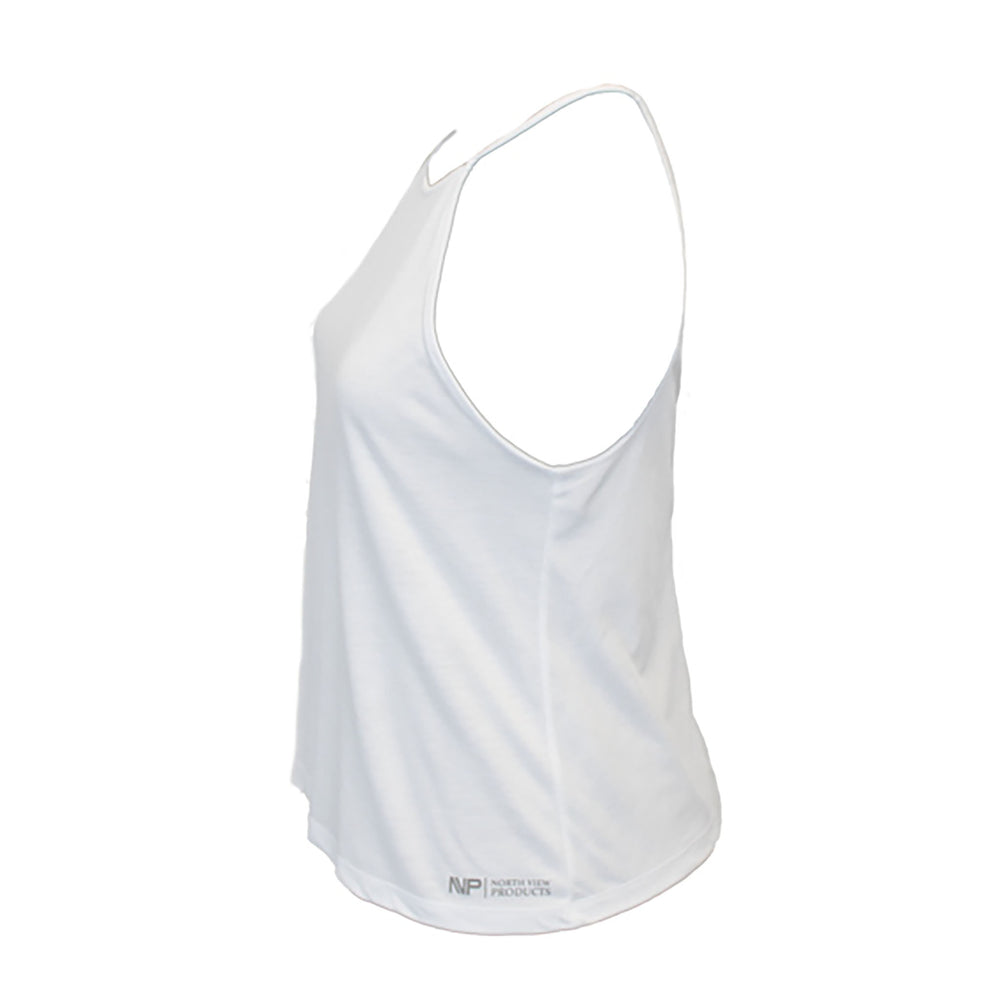 Silver Tag Racer Back (White)