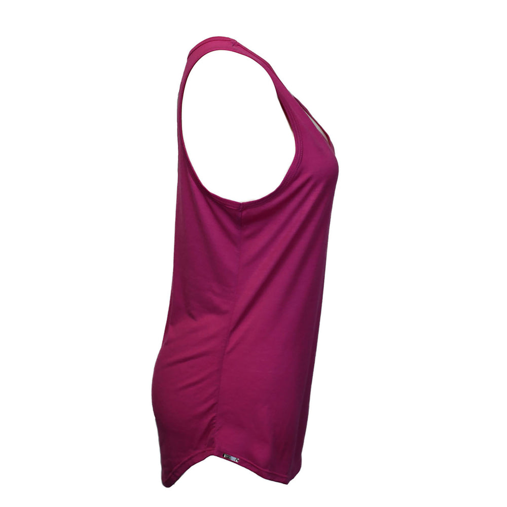Load image into Gallery viewer, Silver Tag V Neck (Fuchsia)