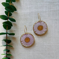 Lilac Daisy Rounds with hoops