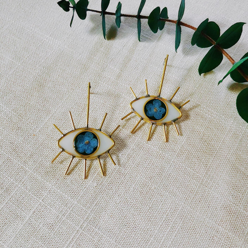 Forget-Me-Not Eye Studs