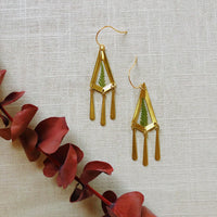 Mini Fern Arrowhead Dangle Earrings