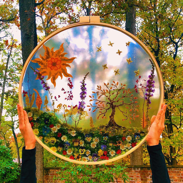 Preserved Whimsical Garden Wall Hanging