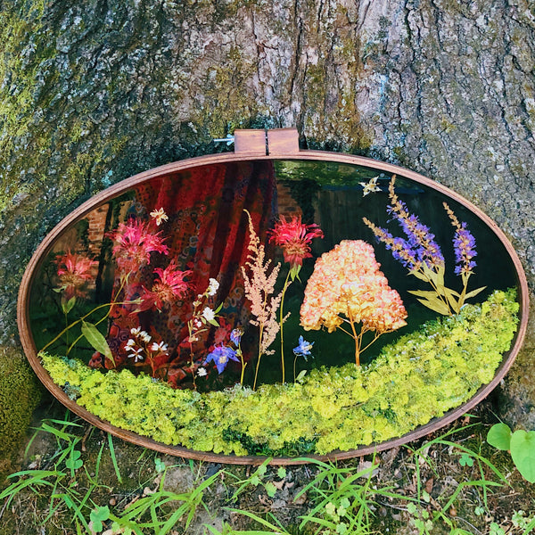 Preserved Garden Oval Wall Hanging