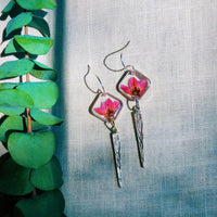 Preserved Wildflower Spike Earrings