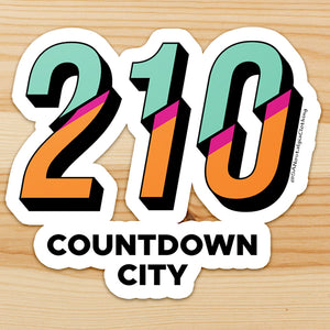 Countdown City Sticker