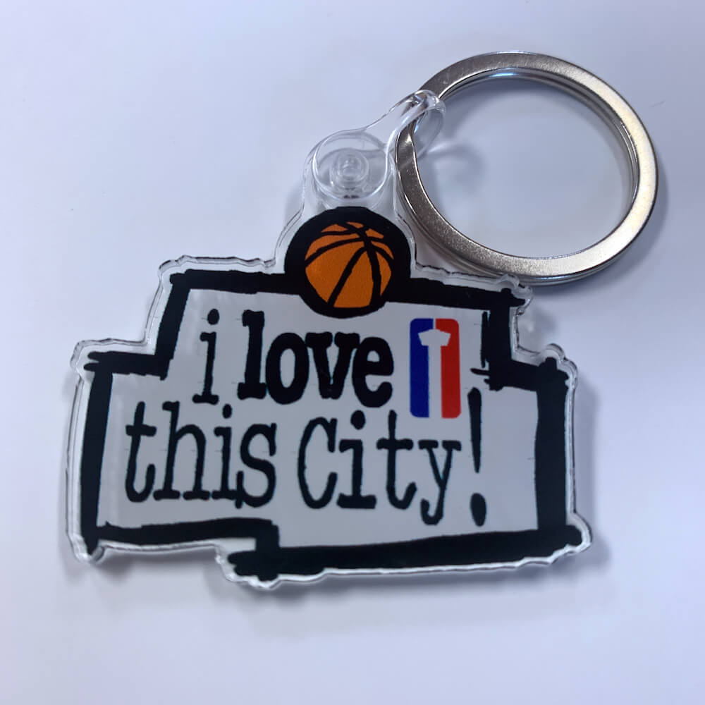 I Love This City Keychain