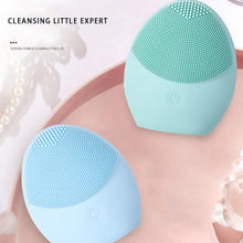 Carregar imagem no visualizador da galeria, LAIKOU Silicone Face Cleansing Brush Electric Face Cleanser Electric Facial Cleanser Cleansing Skin Deep Washing Massage Brush