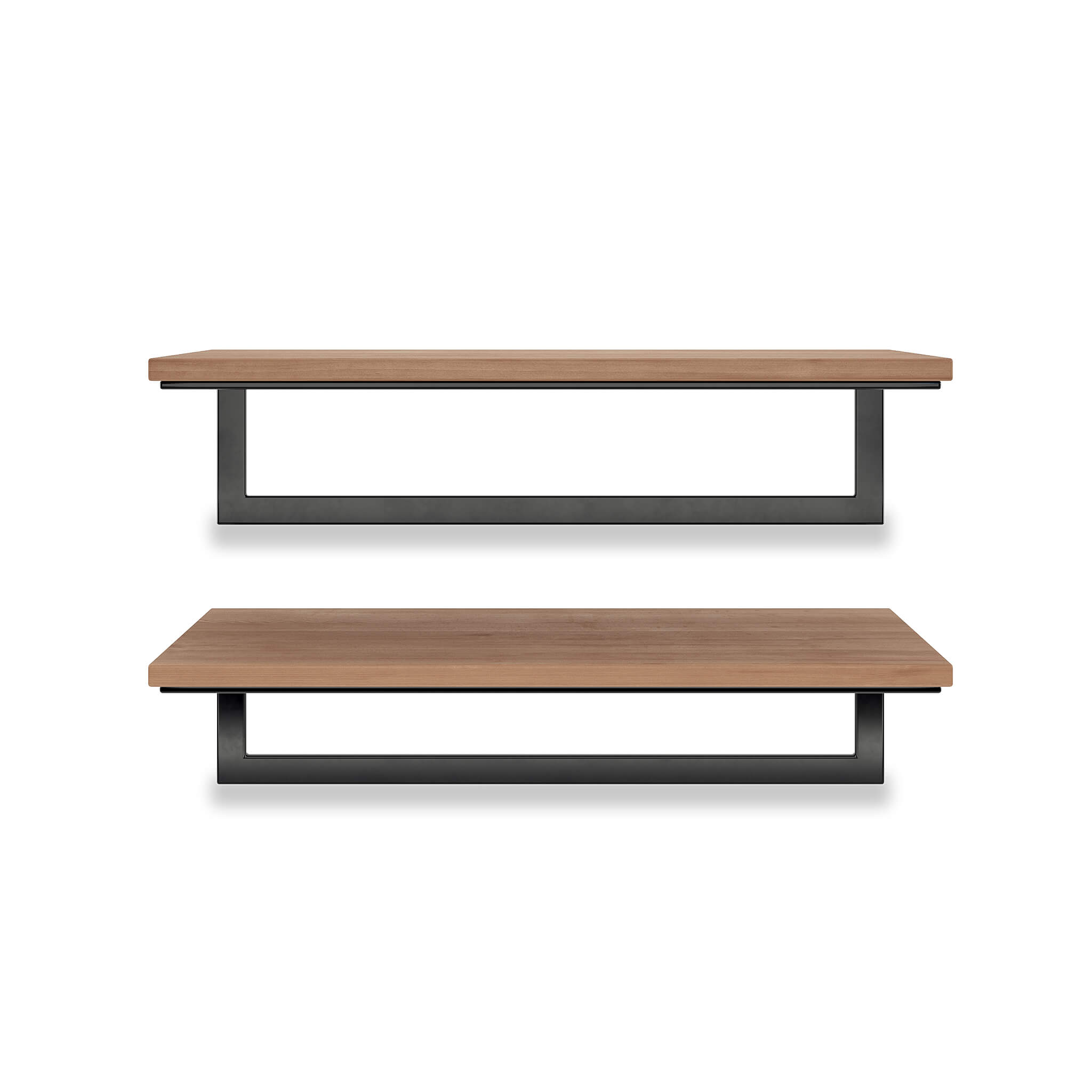 Wood & Metal Floating Shelves