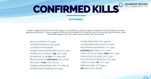 BIOTAB7 - N-listed + EPA-registered Disinfectant - Kills COVID in 60 Seconds