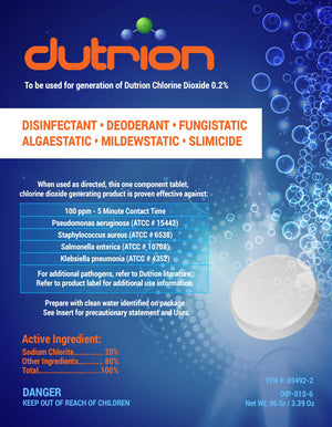 Dutrion Tablet - EPA-registered Disinfectant                 BULK PACK