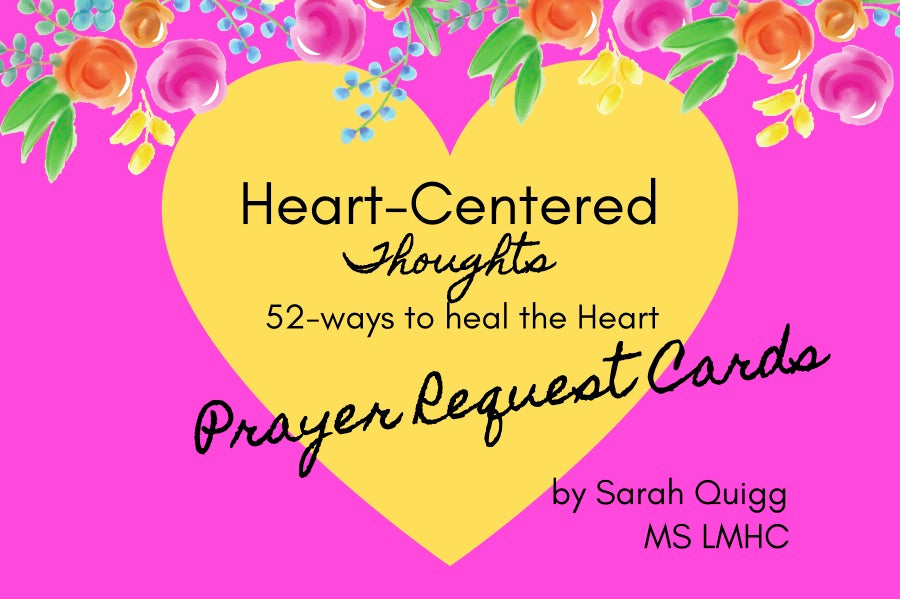 Heart-Centered Thoughts Prayer Request Cards
