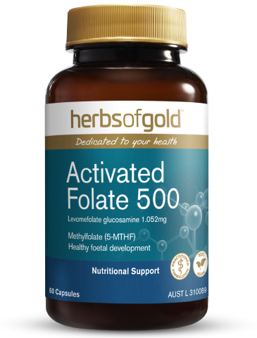 Herbs of Gold - Activated Folate 500