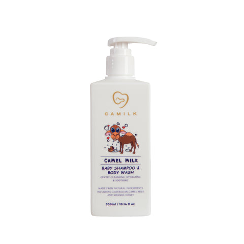 Camilk - Camel Milk Baby Shampoo & Body Wash + Manuka Honey (300ml)