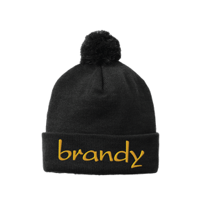 Embroidered Logo Pom Beanie (SOLD OUT)