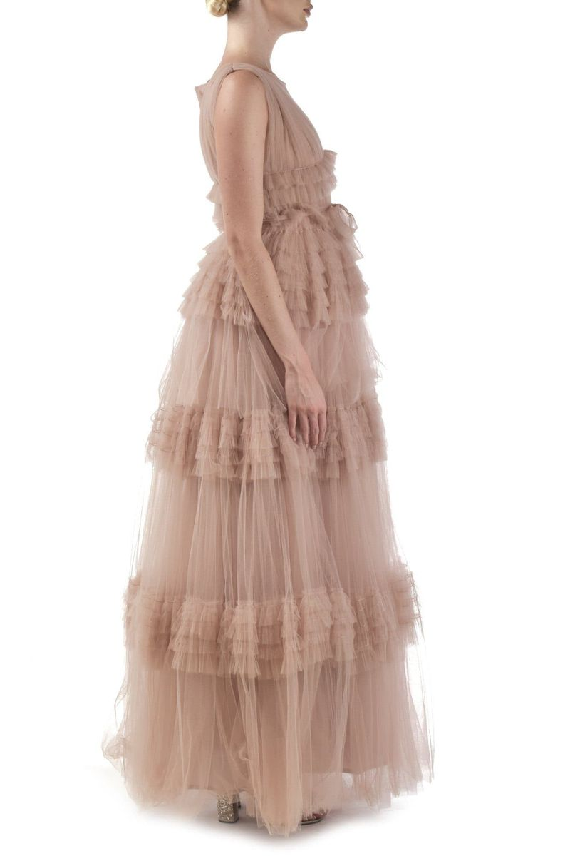 Peach Tulle Gown - BYTRIBUTE