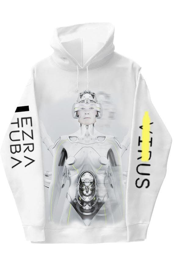 White Hoodie With Mask - BYTRIBUTE