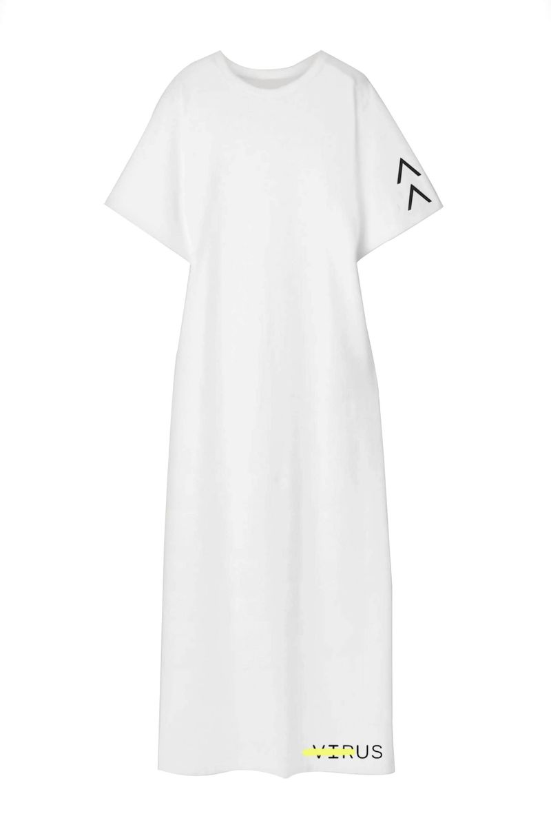 White Short Sleeves Dress - BYTRIBUTE
