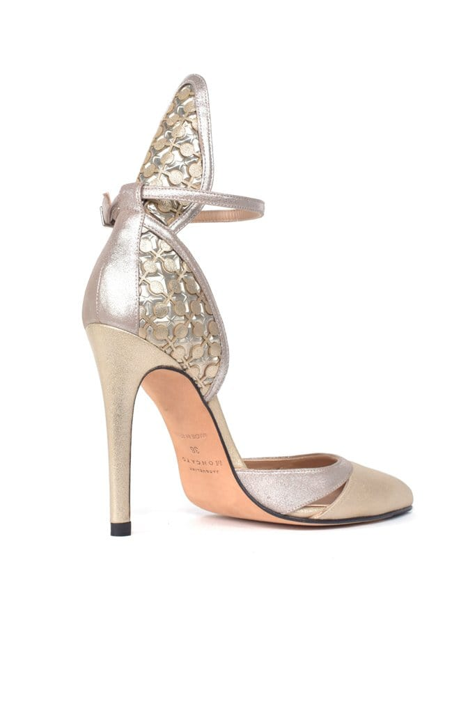 Tajo Metalic Suede Pump - BYTRIBUTE