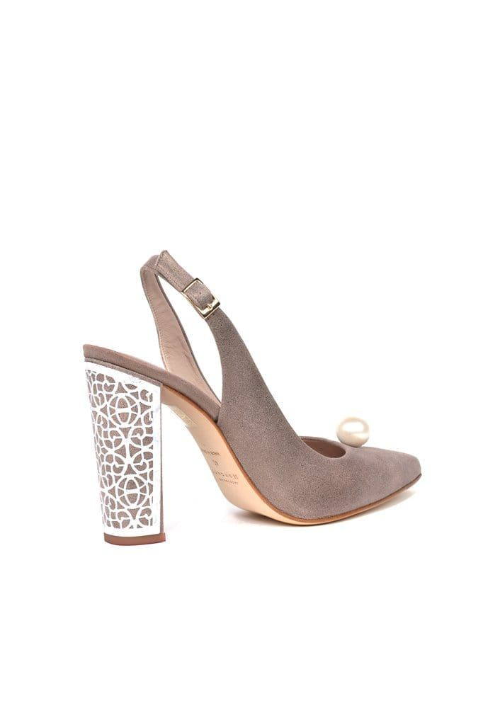 Albaicin Ash Metallic Suede Pump - BYTRIBUTE