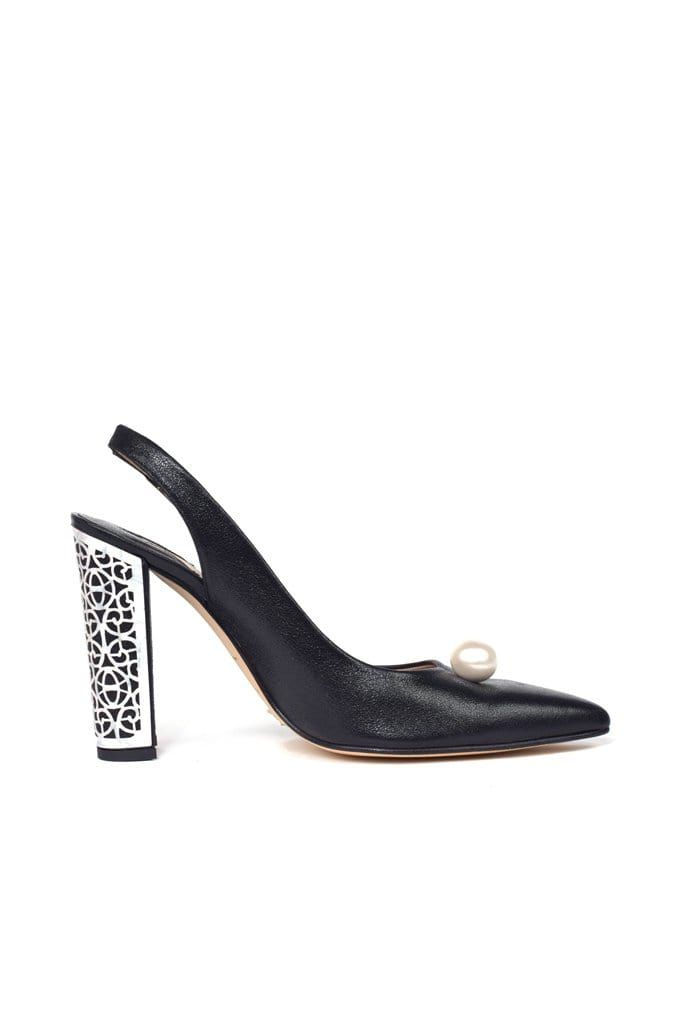 Albaicin Black Metallic Suede Pump - BYTRIBUTE