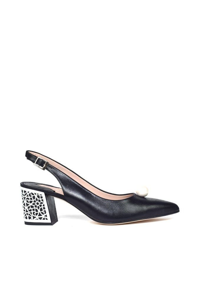 Aljibe Black Metallic Suede Pump - BYTRIBUTE